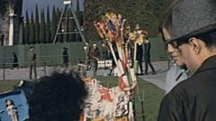 Pisa 1967: souvenir stand in Piazza dei Miracoli Stock Footage