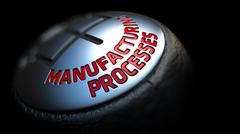 Manufacturing Processes on Gear Stick with Red Text Piirros