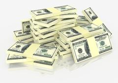 Big money stack. Finance concepts - stock photo