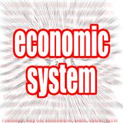 Economic system - stock illustration