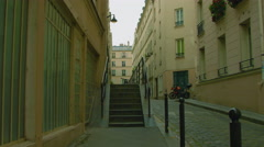 Wider Stairs in the nineth arrondissement Stock Footage