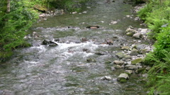 Church Beck, Coniston village Stock Footage