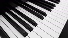 3D animation of piano keyboard, loop-able - stock footage