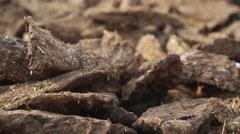Closeup of kneaded mud. Stock Footage