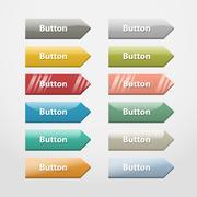 Web buttons.Part III - stock illustration