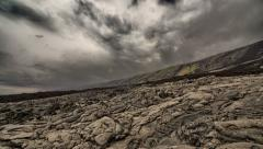 Kilauea Lava Rock Pan Time Lapse, Chain of Craters Road, Big Island, Hawaii Stock Footage