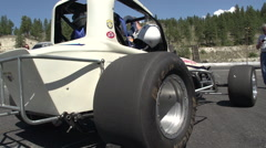 Motor Sports, sprint car static in pits Stock Footage