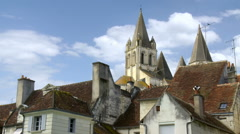 Rooftops - Loches France Stock Footage