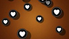 Flying heart icons. Looping. Alpha channel is included. Stock Footage