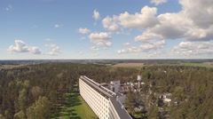 Paimio Sanatorium, aerial footage 4K Stock Footage