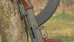 Assault rifle AK-47. - stock footage