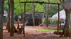 Northern Thailand, Hill Tribes Village Stock Footage