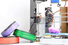 Photo of a three-dimensional printer - stock photo