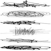Set Scribble - stock illustration