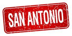 San Antonio red stamp isolated on white background - stock illustration