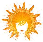 Abstract sunny woman. Stock Illustration