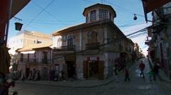 La Paz city street Bolivia time lapse Stock Footage
