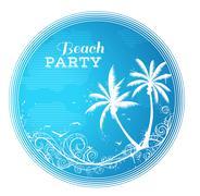 Circle beach party design. Piirros