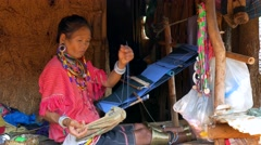Palong, Hill Tribe Woman, Northern Thailand Stock Footage