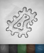 microbe icon - stock illustration