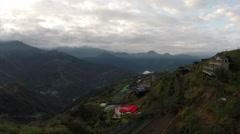 Aerial Drone Shot: Alishan, Taiwan Stock Footage