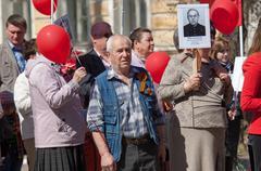 Immortal squad parade in Rostov - stock photo