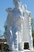Heroes WWII monument in Rostov - stock photo