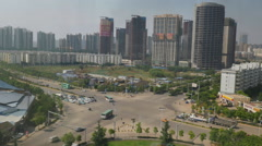 Aerial View Of North Kunming City China Stock Footage
