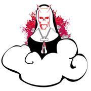 Stock Illustration of Horror nun