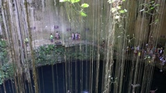 MEXICO, CANCUN - 17 MARCH 2015: Ik-Kil Cenote Stock Footage