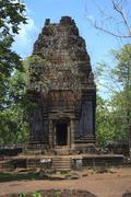 Temple Ruins Near Angkor Wat In Cambodia Stock Photos