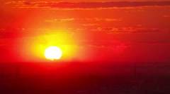 Red sunset - stock footage