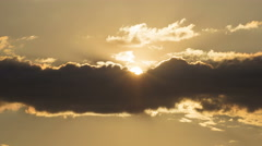 4 in 1 video! The sun in the haze and clouds Stock Footage