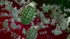 War concept with hand grenades Stock Footage