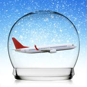 Stock Illustration of Planeflying in a snowball