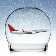Stock Illustration of Plane flying in a snowball
