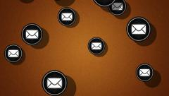 Flying e-mail icons. Looping. Alpha channel is included. Stock Footage