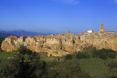 The village of Pitigliano in Tuscany - stock photo