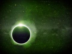 Eclipse on the planet Earth - stock illustration