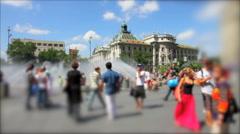 Munich - Karlsplatz Stock Footage