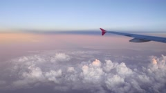 Delicate colours of evening sky and clouds from the top point. Stock Footage