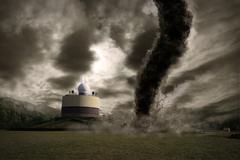 Large Tornado disaster - stock photo