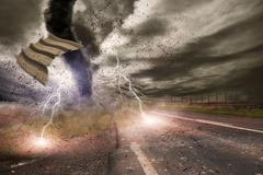 Large Tornado disaster - stock photo