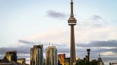 4K Timelapse of Toronto Skyline Stock Footage