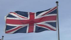 Union Jack British Flag Stock Footage