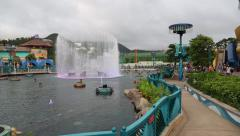 Ocean Park Hong Kong is one of the largest parks in the world. Stock Footage