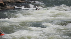 Ocoee Whitewater Kayak Slow Motion Awesome Stock Footage