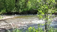 Fast Flowing Montana River Missoula, Montana Stock Footage