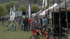 Tweelove Bike Festival Event Village, Peebles, Scotland Stock Footage