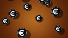 Flying euro icons. Looping. Alpha channel is included. Stock Footage